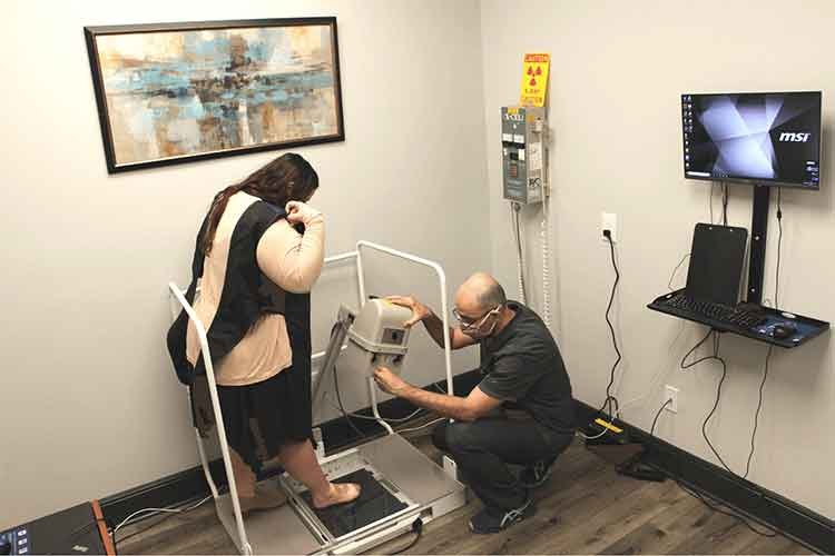 Katy foot care Doctor examining patient